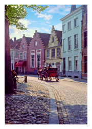 Horse drawn carriage in Brugge
