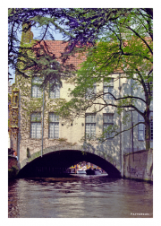 Straddling a Canal in Brugge