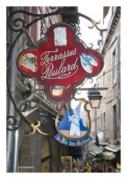 Restaurant Sign in Mont St. Michel