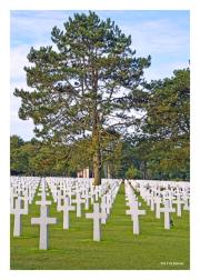 US Military Cemetery atop Omaha Beach