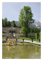 Fountain at Schloss Linderhof in Ammer Valley near Oberammergau