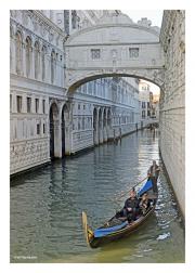 Gondola Under the Bridge of Sighs