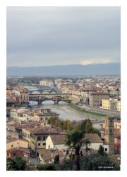 Cityscape with Ponte Vecchio