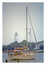 Ocracoke Lighthouse and Sailboat