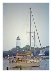 Ocracoke Lighthouse and Sailboat