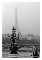 Pont Alexandre III Bridge & Eiffel Tower in Fog