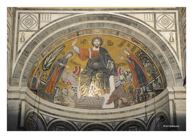 Fierenza Florence Mosaic Abbey of San Miniato al Monte Italy Cathedral