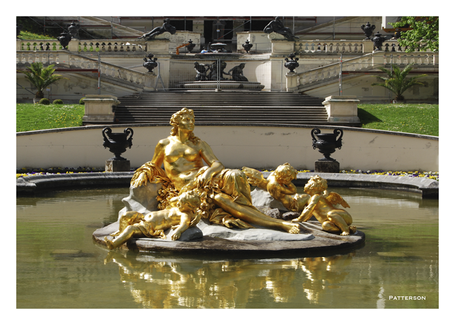 statue/monument Fountain Linderhof Germany Ammer Valley Oberammergau Castle Palace