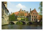 Canal with Bridge, Brugge, Belgium