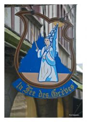Shop Sign in Mont St. Michel