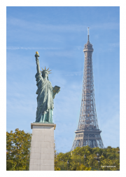 Eiffel Tower & Statue of Liberty