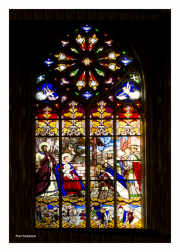 Birth of Christ Stained Glass Window
