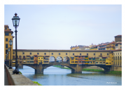 Ponte Vecchio with Lamp Post
