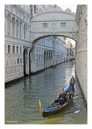 Gondola Under the Bridge of Sighs