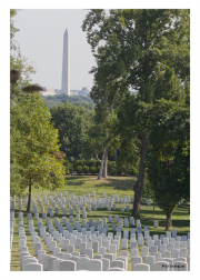 Arlington Cemetery with Washington Monument