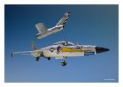 """F-11F """"Tiger"""" & MIG-15"""