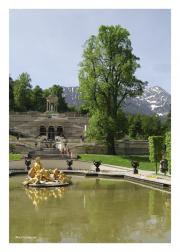 Fountain at Schloss Linderhof in Ammer Valley near Oberammergau