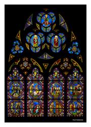 Stained Glass in Notre Dame Cathedral of Bayeux