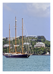 Sailboat off Coast of Bermuda