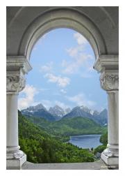 View of Alps from Neuschwanstein Castle