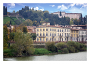 Shores of the Arno River in Florence