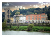 Florence Along the Arno River