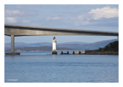 Bridge to Skye with Lighthouse