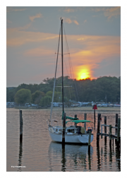 Sailboat at Sunset in Colonial Beach