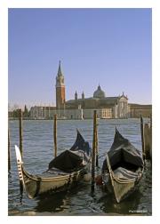Venice Lagoon with Gondolas