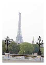 Eiffel Tower from Pont Alexandre III Bridge