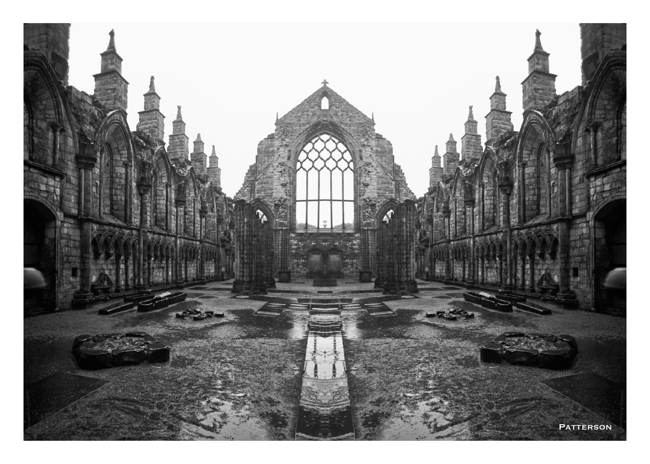 black & white cathedral